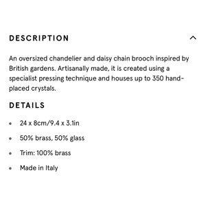 Burberry Jewelry - Burberry - Crystal Daisy Chain Chandelier Brooch